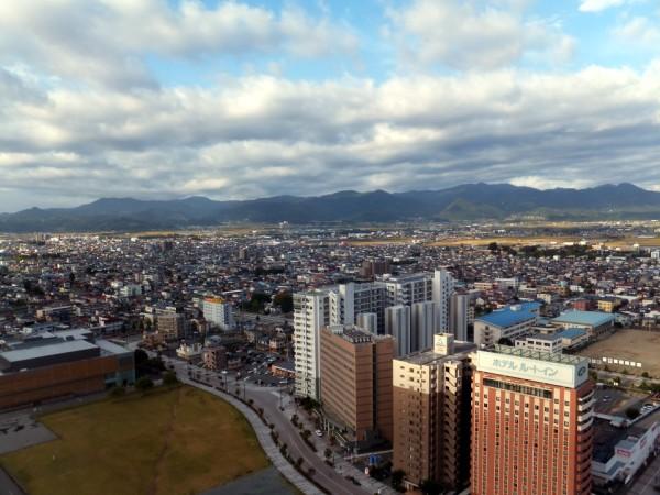 山形市中心部の街並み